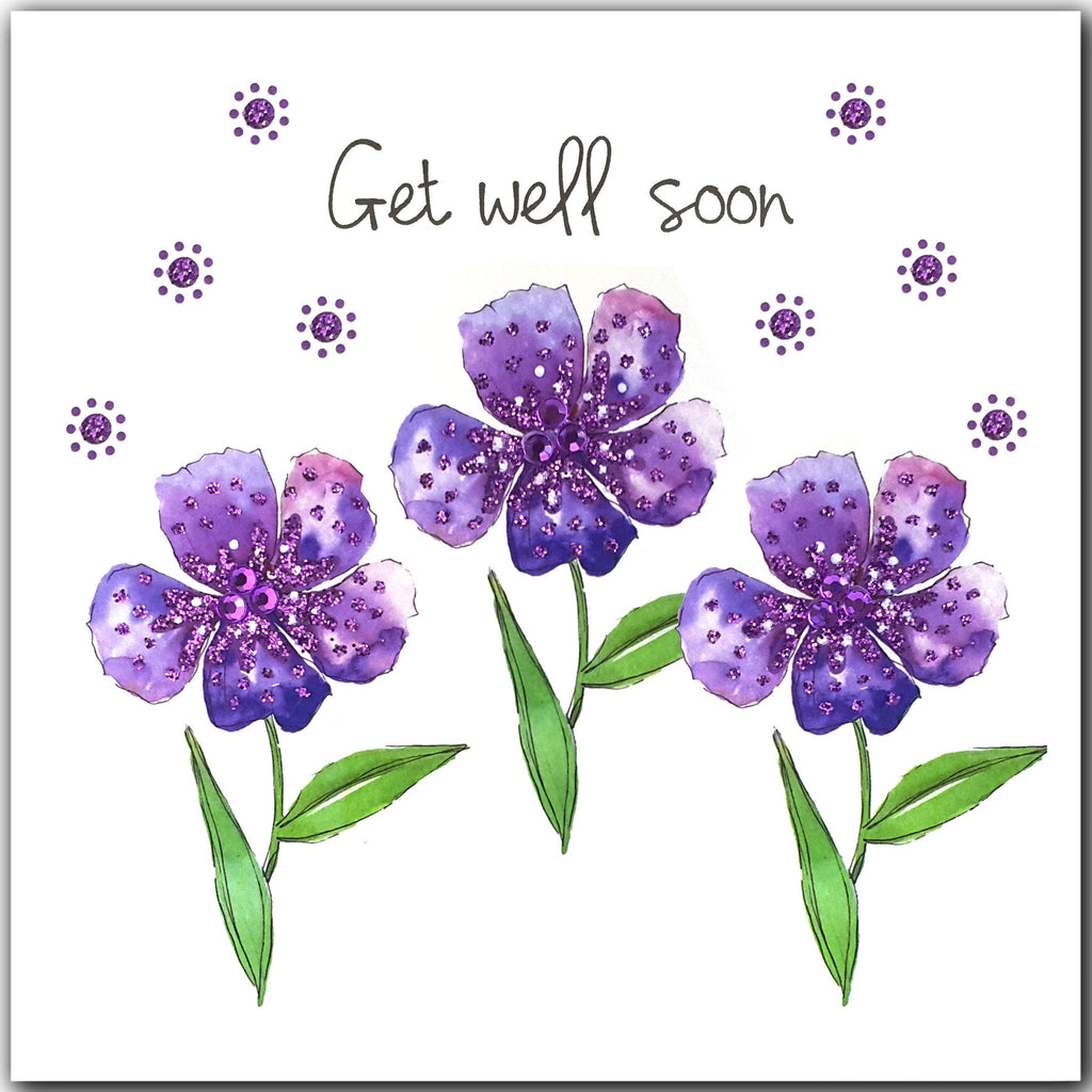 PURPLE GET WELL WISHES - L1922