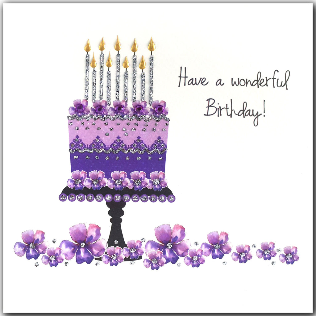 PURPLE BIRTHDAY CAKE - L1923