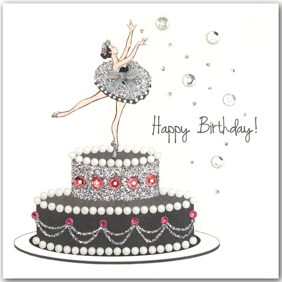 Wondrous Ballerina Birthday Cake L2015 Jaab Cards Personalised Birthday Cards Paralily Jamesorg