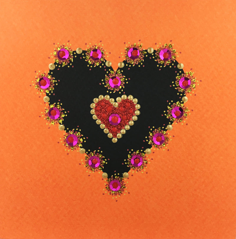 Sparkling Heart - N1101 (Pack of 5)