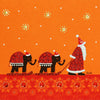 Santa's Sleigh - N1382 (Pack of 5)