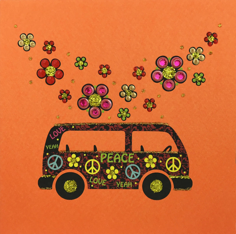Flower Power Bus - N1436 (Pack of 5)