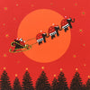 Santa's Sleigh - N1484 (Pack of 5)