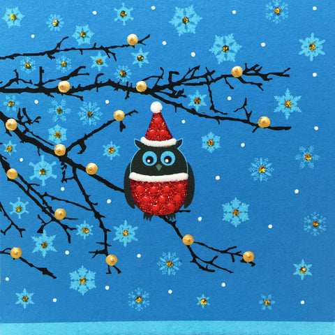 Festive Owl - N1584 (Pack of 5)