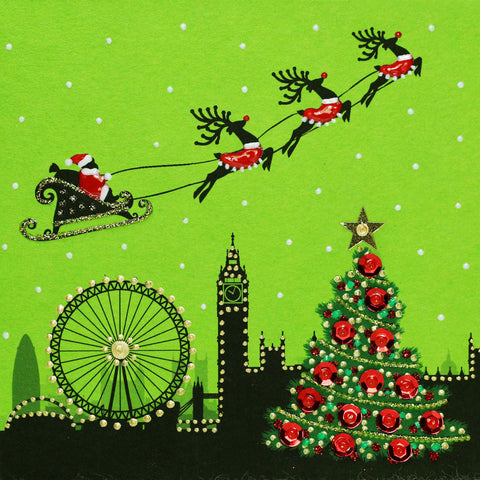 Santa's Sleigh Over London - N1591-2 (Pack of 5)