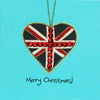 Christmas Heart Union Jack - N1594