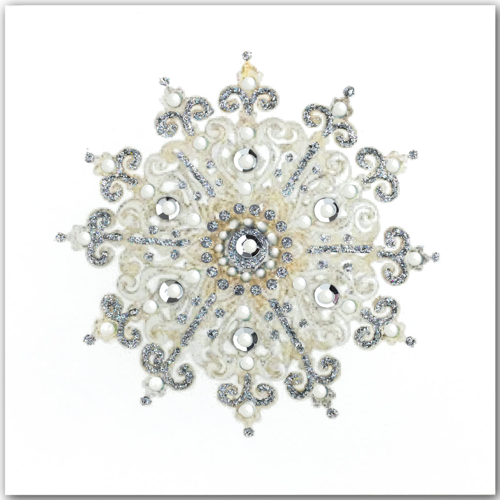Silver Lace Snowflake - N1622 (Pack of 5)