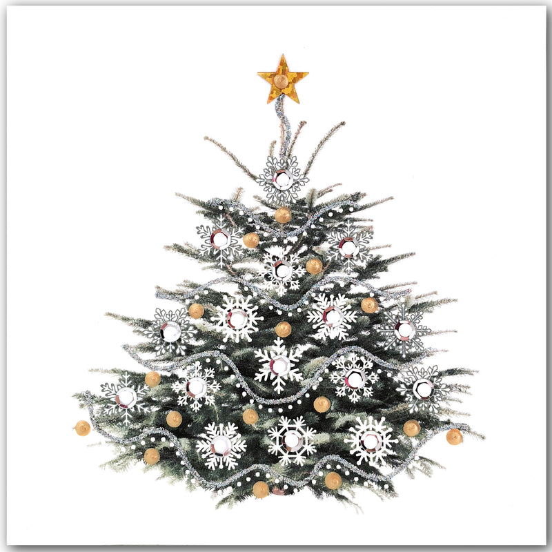 Silver Christmas Tree - N1632 (Pack of 5)