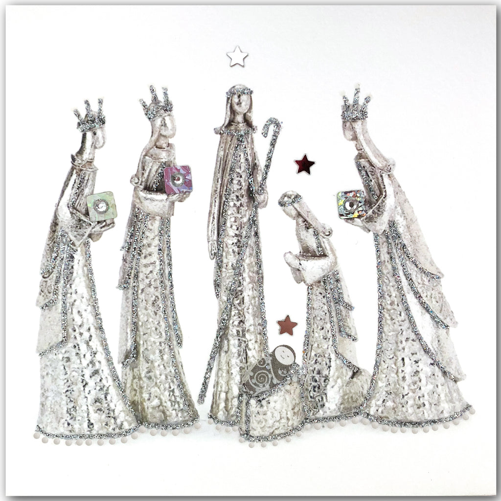 Silver Nativity - N1635 (Pack of 5)