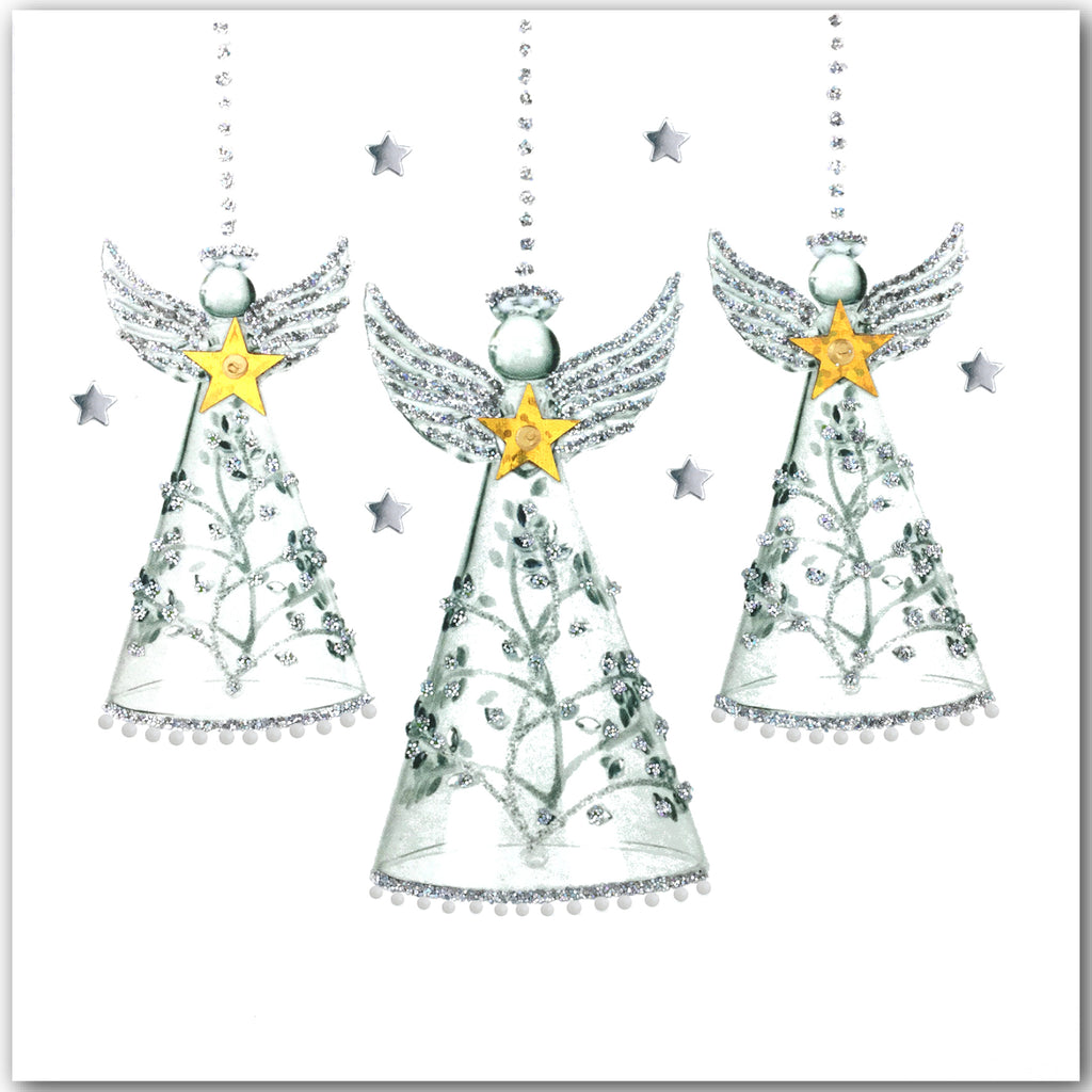 Silver Glass Angels - N1636 (Pack of 5)