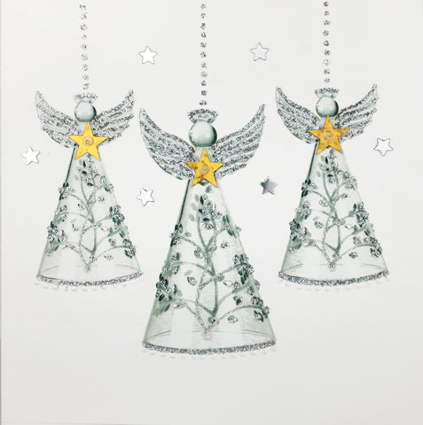 Silver Glass Angels - N1636