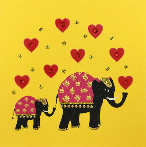 Elephant Hearts - N1654 (Pack of 5)