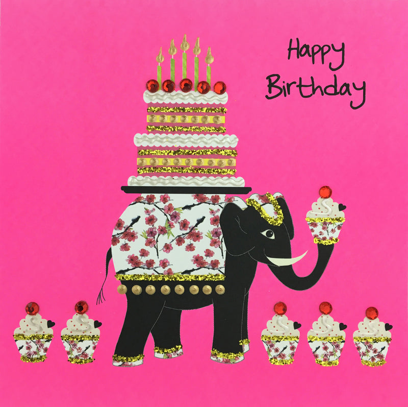 BIRTHDAY ELEPHANTS - N1655 (PACK OF 5)