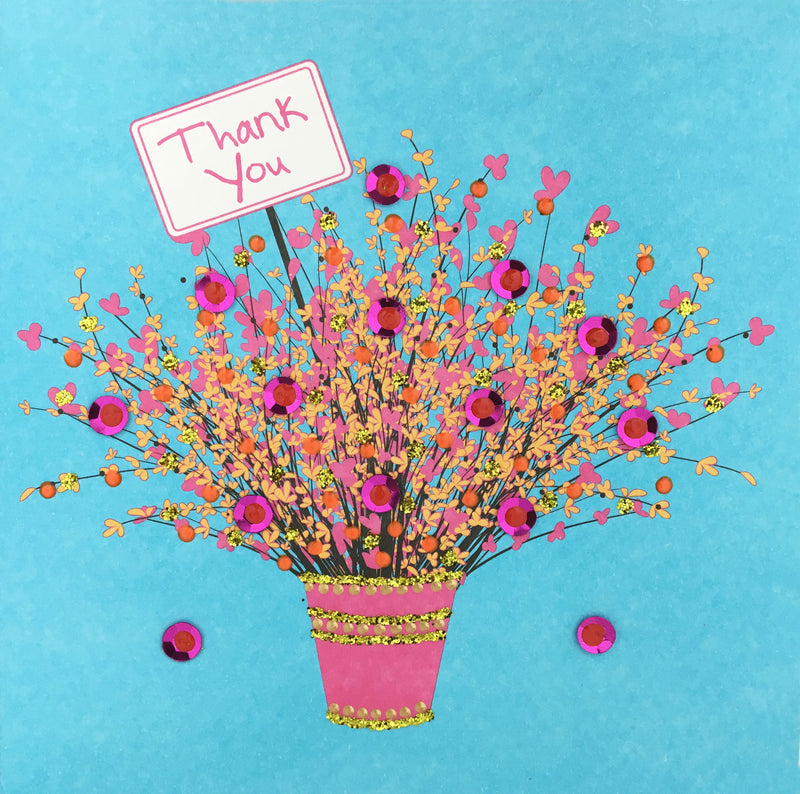 Thank You Flowers - N1661 (Pack of 5)