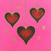 Beaded Hearts - N1663 (Pack of 5)