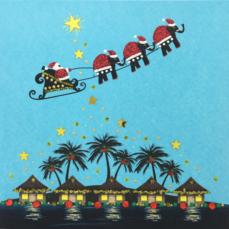 Tropical Santa Sleigh - N1676 (Pack of 5)