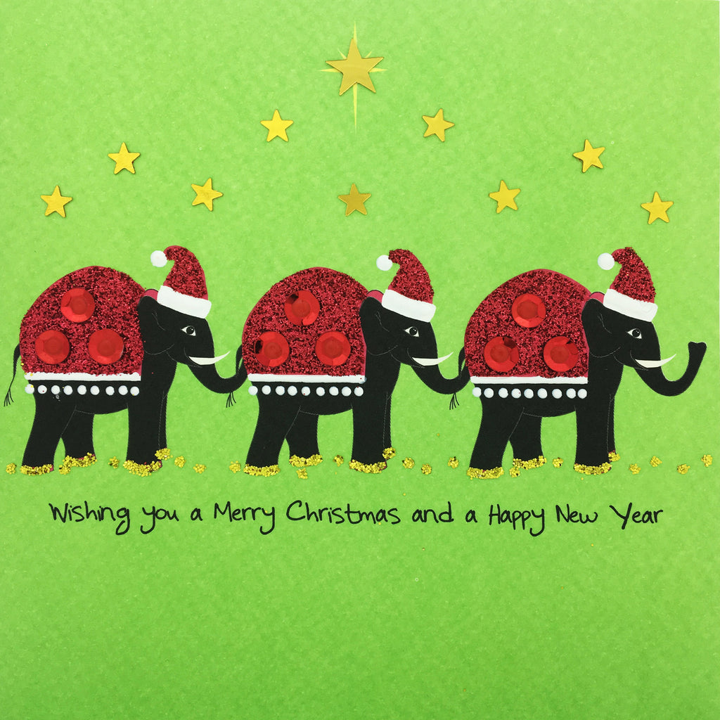 Christmas Elephants - N1681 (Pack of 5)