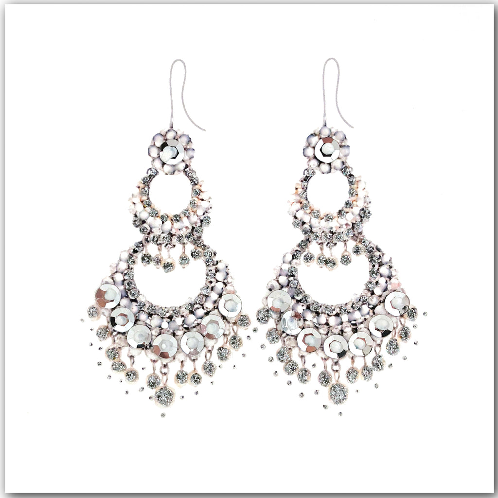 Silver Earrings - N1614