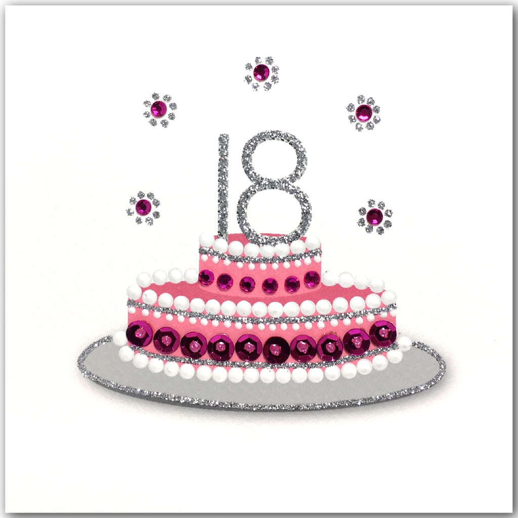 18th Birthday Cake Pink - N1749
