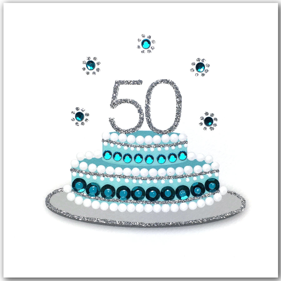 Stupendous 50Th Birthday Cake N1751 Jaab Cards Funny Birthday Cards Online Fluifree Goldxyz