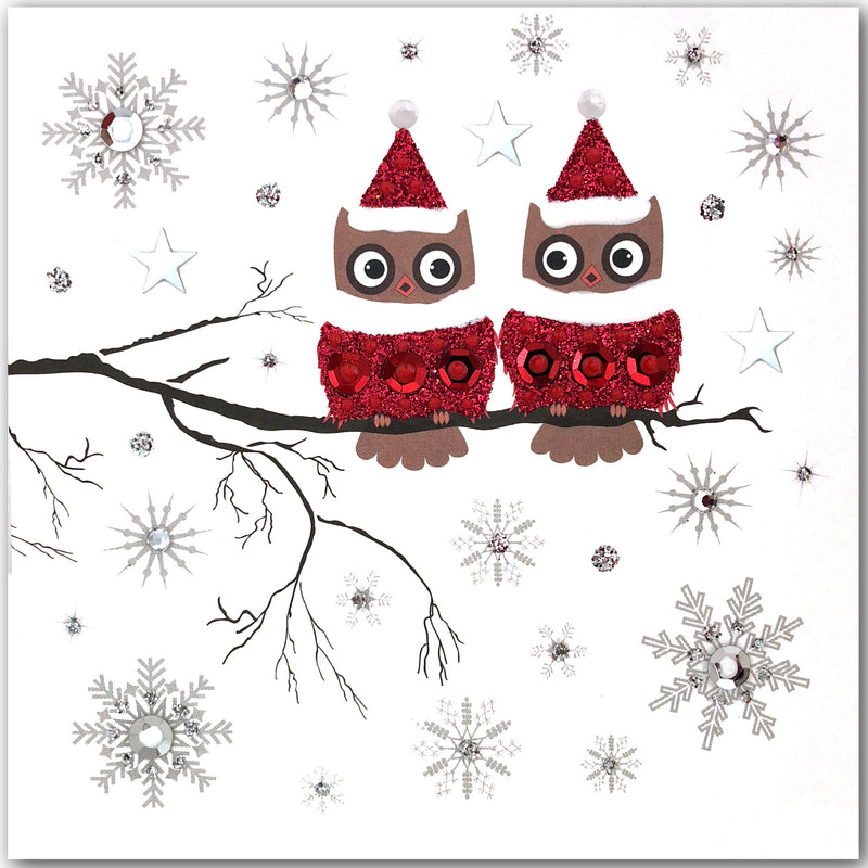 Festive Owls - N1772 (Pack of 5)