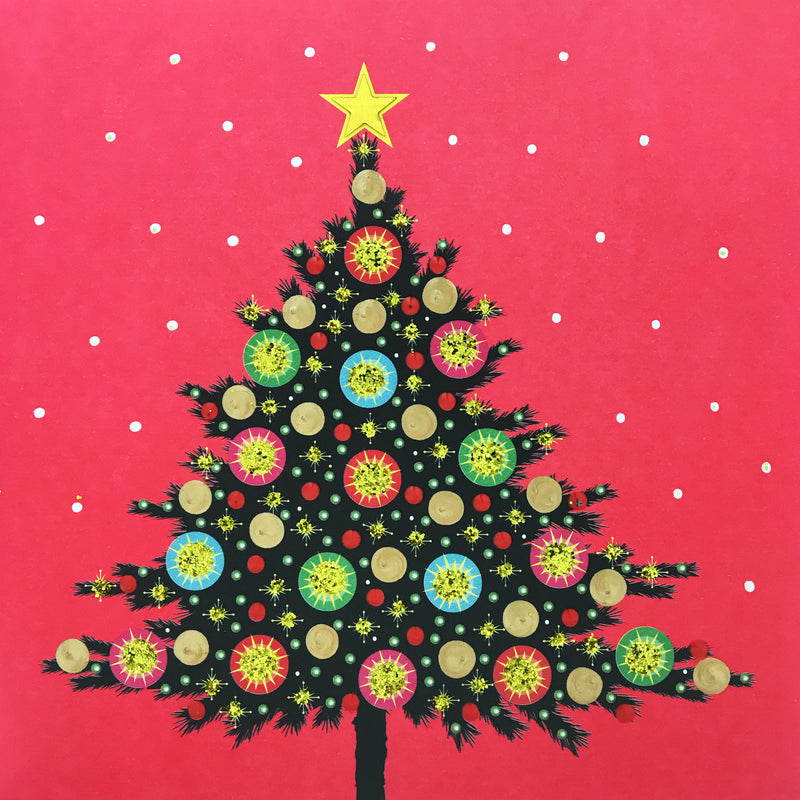 Festive Christmas Tree - N1776 (Pack of 5)