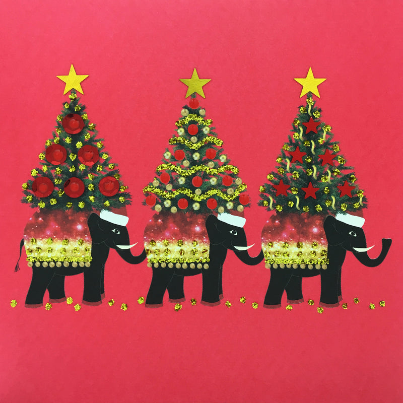 Christmas Elephants - N1778 (Pack of 5)