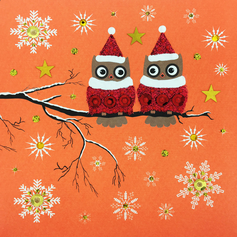 Festive Owls - N1779 (Pack of 5)