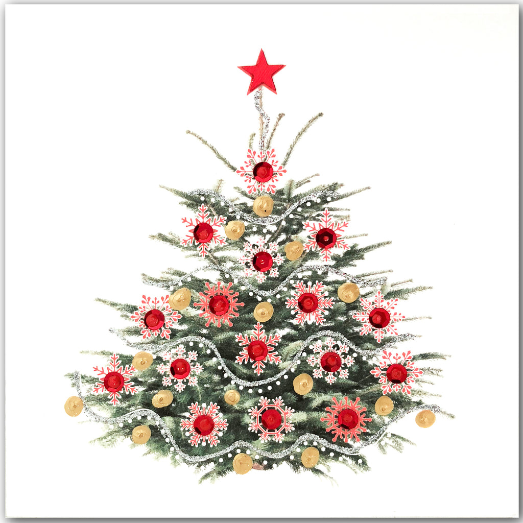 Christmas Tree Red - N1789 (Pack of 5)