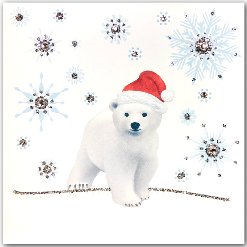 Festive Polar Bear - N1881 (Pack of 5)