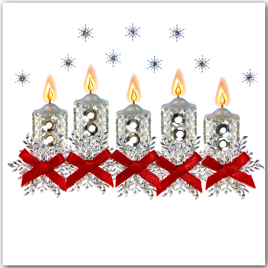 Silver Candles - N1884 (Pack of 5)