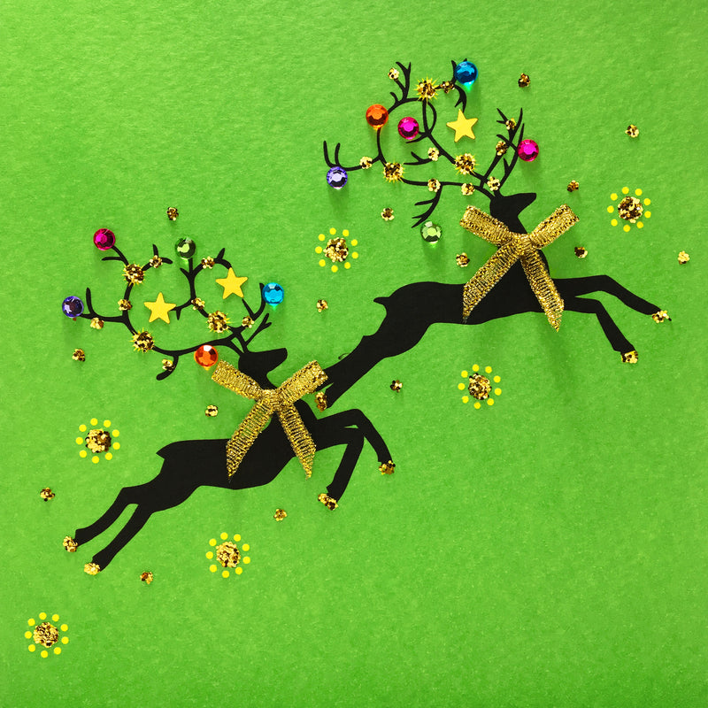 Dancing Reindeers - N1892 (Pack of 5)