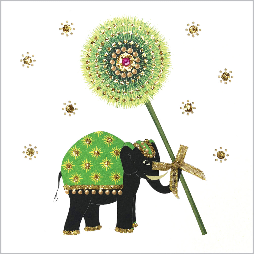 ELEPHANT WITH FLOWER - N1899 (PACK OF 5)