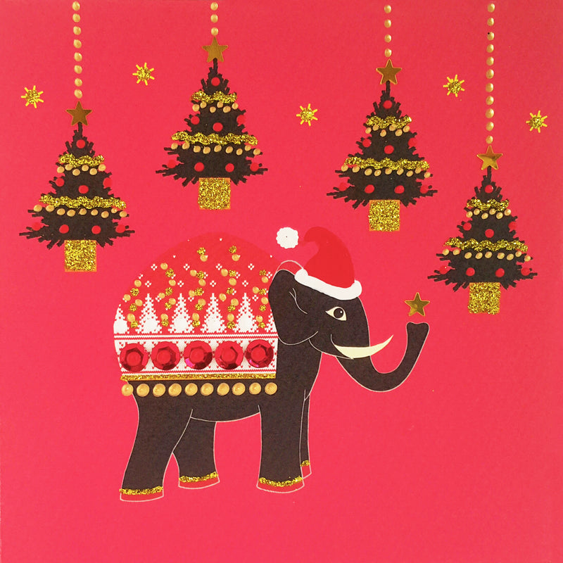 CHRISTMAS ELEPHANT - N1902 (PACK OF 5)