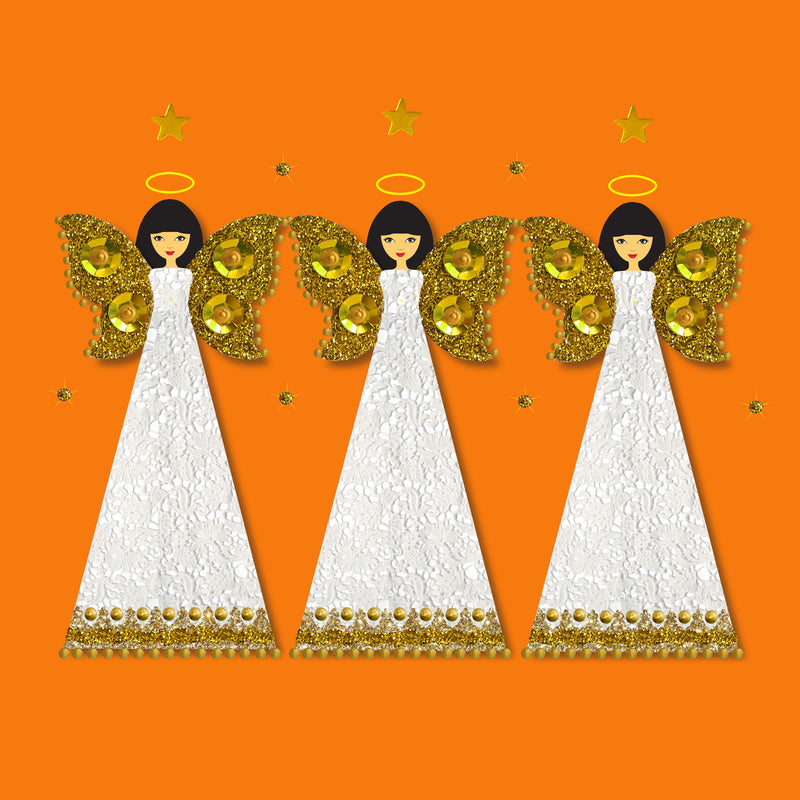 CHRISTMAS ANGELS - N1912 (PACK OF 5)