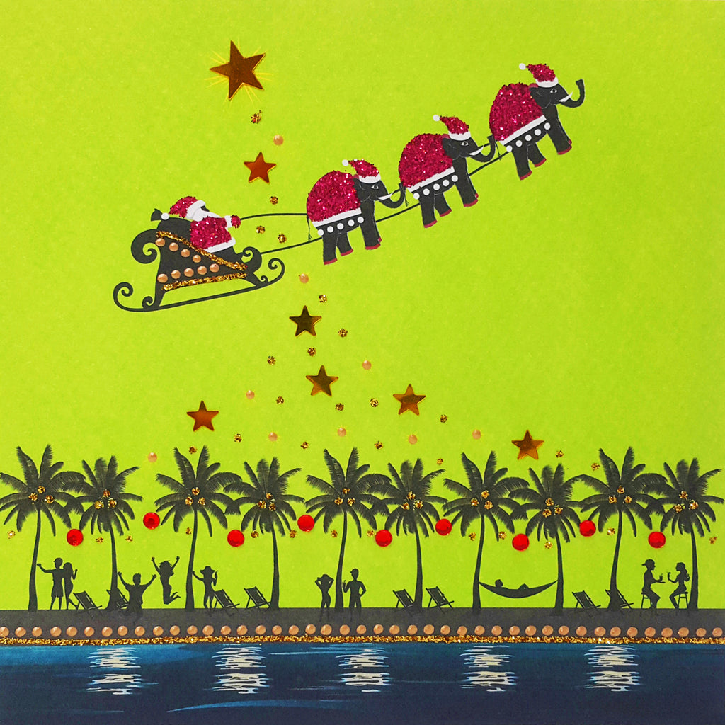 TROPICAL SANTA SLEIGH - N1916 (PACK OF 5)
