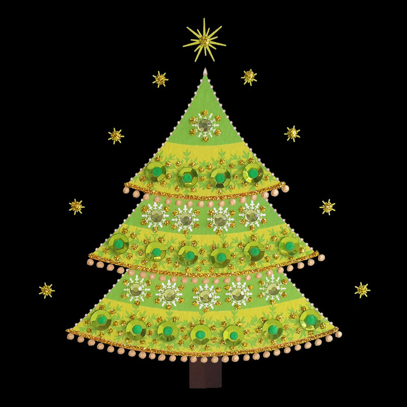 SEQUIN CHRISTMAS TREE - N1935 (PACK OF 5)
