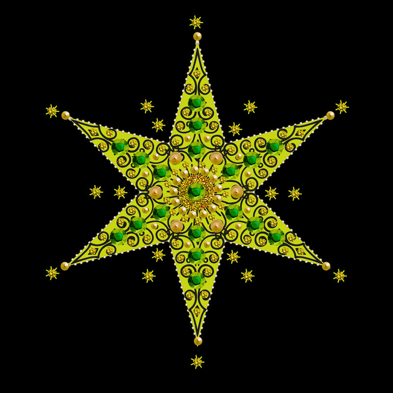 SEQUIN STAR - N1938 (PACK OF 5)