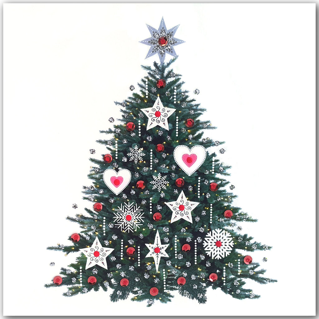 PINK CHRISTMAS TREE - N1973 (PACK OF 5)