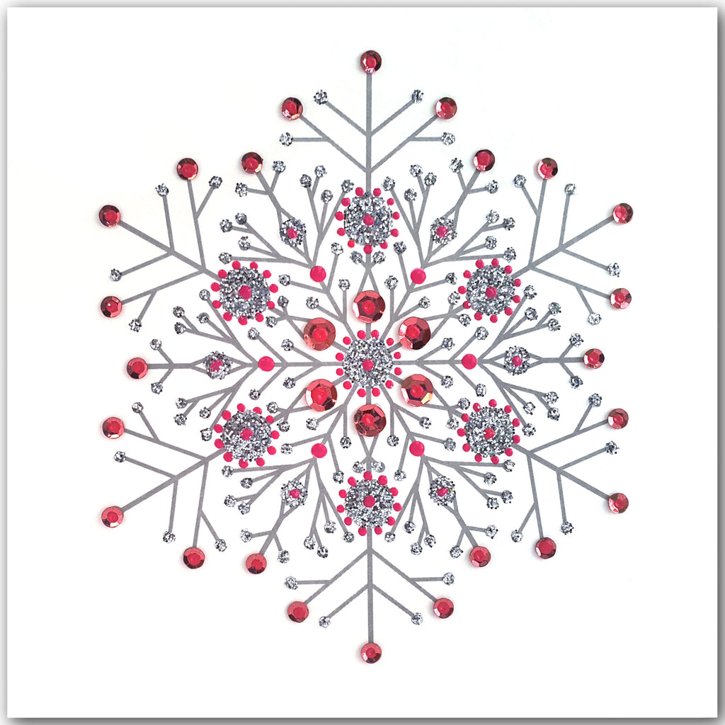 PINK SNOWFLAKE - N1977 (PACK OF 5)