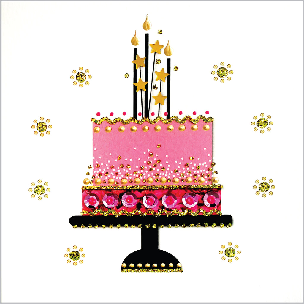 STAR BIRTHDAY CAKE - N1987 (PACK OF 5)