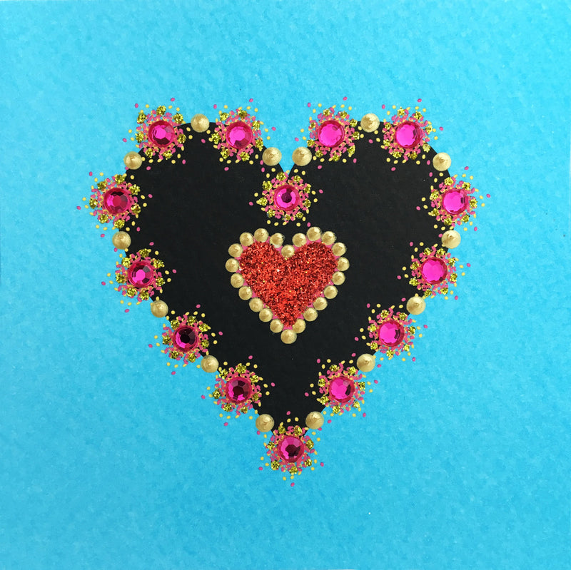 Sparkling Heart - S1166 (Pack of 5)