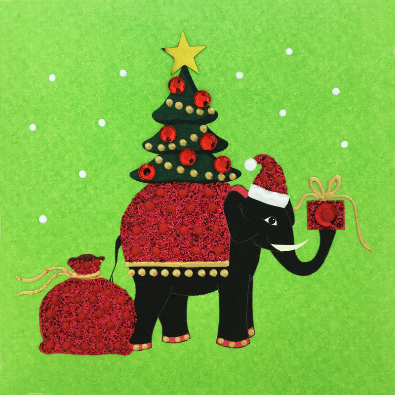 Christmas Elephant - S1691 (Pack of 5)