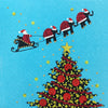 Santa Sleigh - S1692 (Pack of 5)