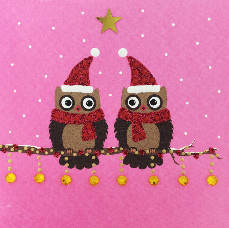 Christmas Owls - S1697 (Pack of 5)
