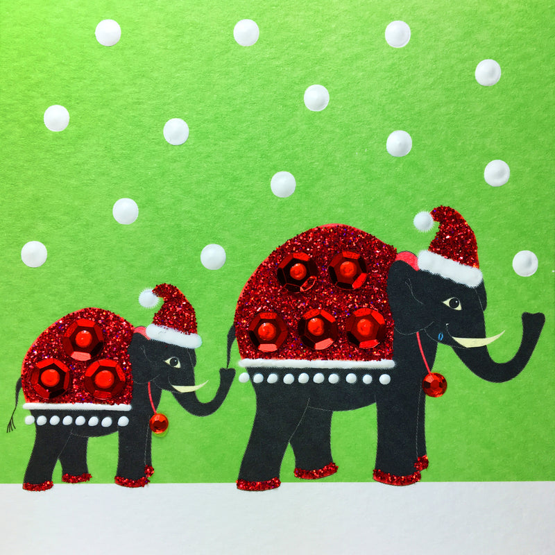 Christmas Elephants - S1865 (Pack of 5)