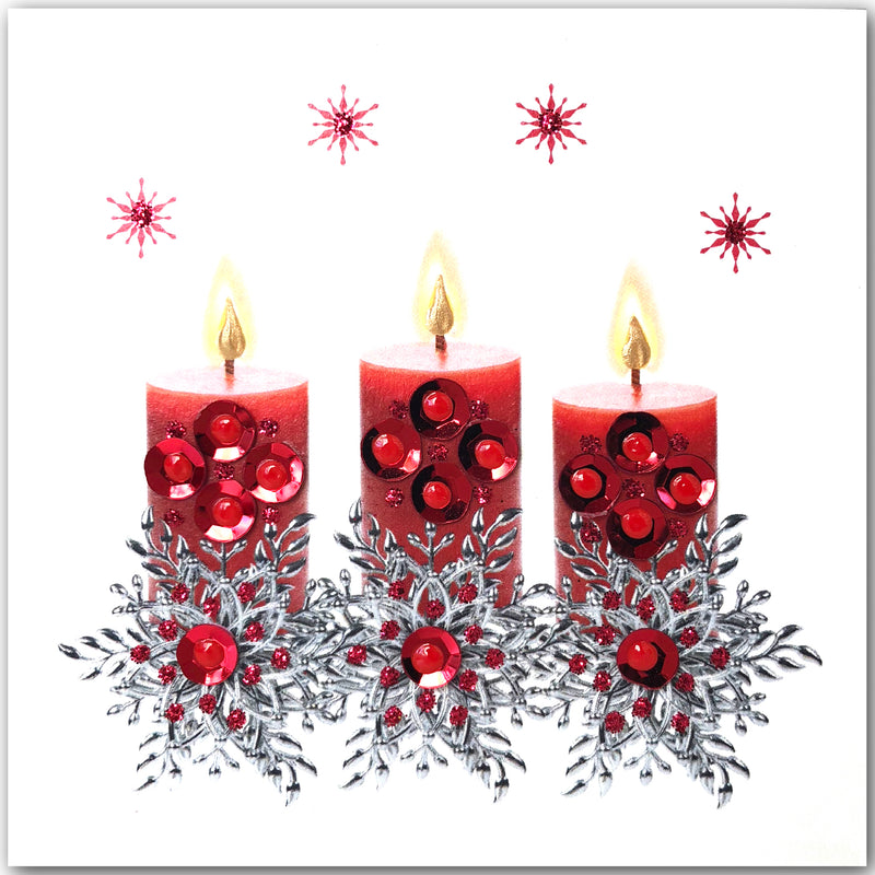 Christmas Candles - S1874 (Pack of 5 SMALL Cards)