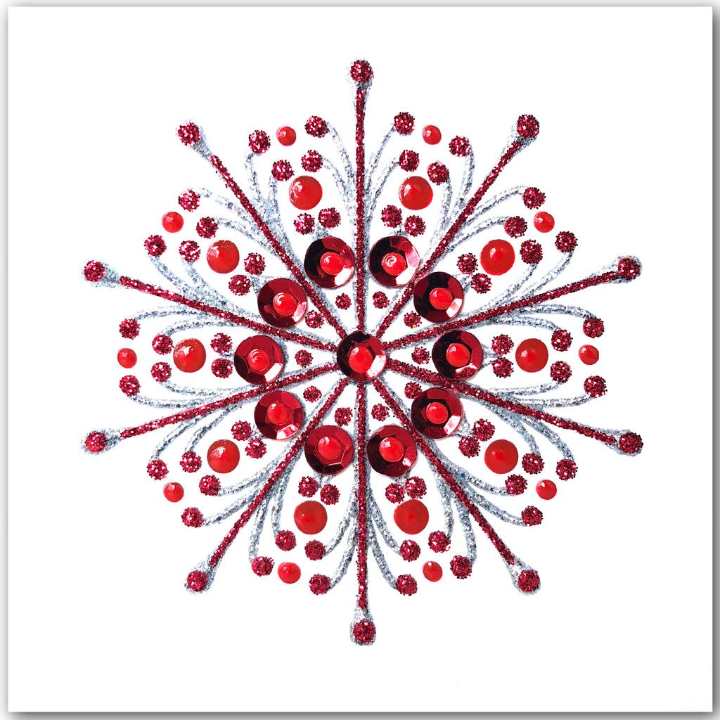 Christmas SnowFlake - S1878 (Pack of 5 SMALL Cards)