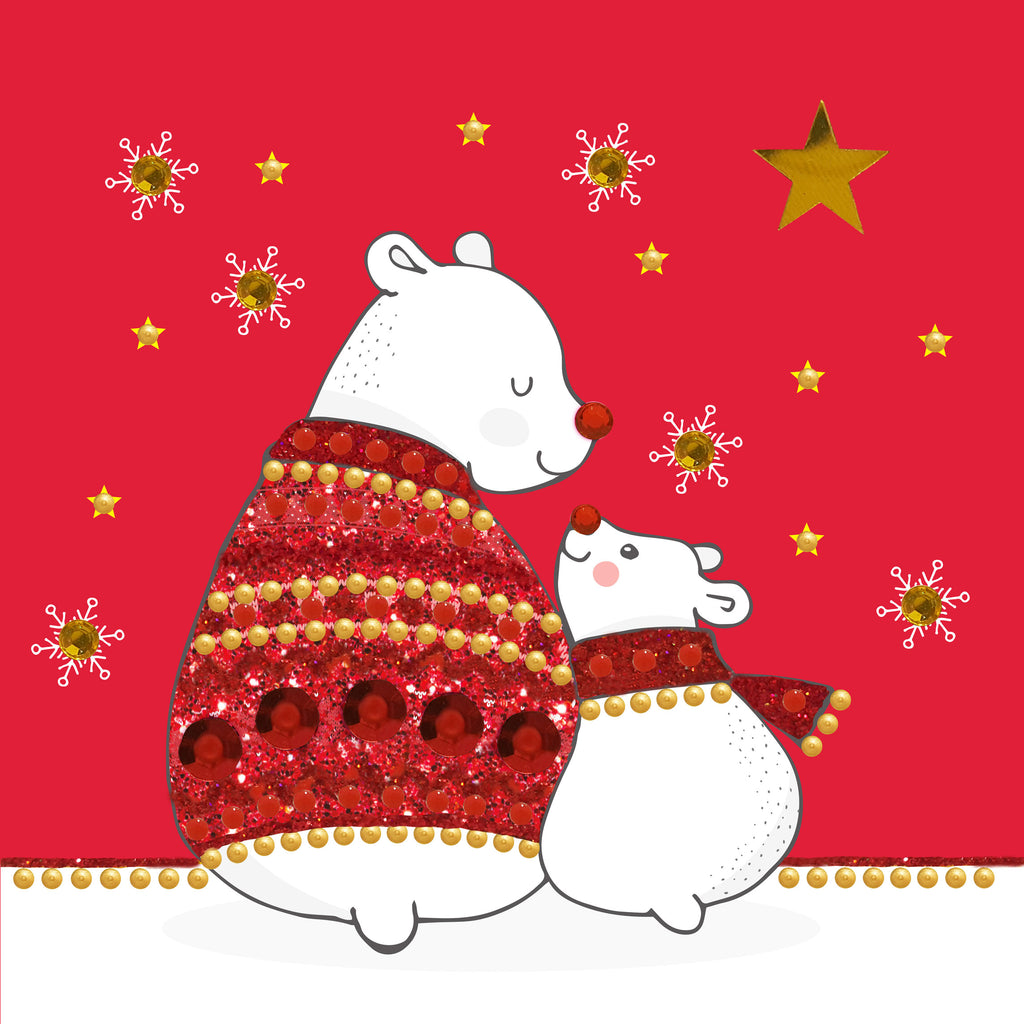 CHRISTMAS POLAR BEARS - S1940 (PACK OF 5)