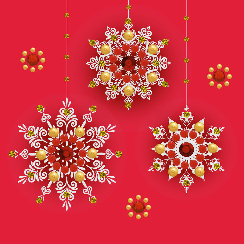 SNOWFLAKE BAUBLES - S1942 (PACK OF 5)